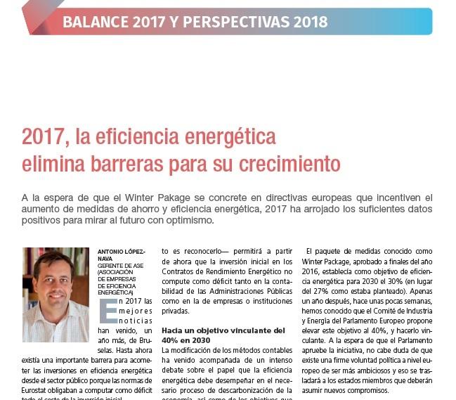 2017, la eficiencia energética elimina barreras para su crecimiento