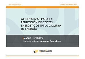 Alternativas para la reducción de costes energéticos en la compra de energía