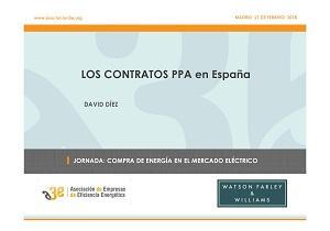 Los contratos PPAs en España. Aspectos jurídicos