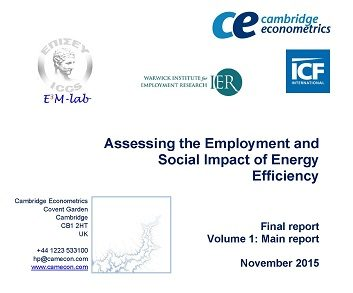 Assessing the Employment and Social Impact of Energy Efficiency