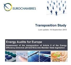Auditorías Energéticas en Europa: Estudio de la transposición de la Directiva Europea 2012/27/UE