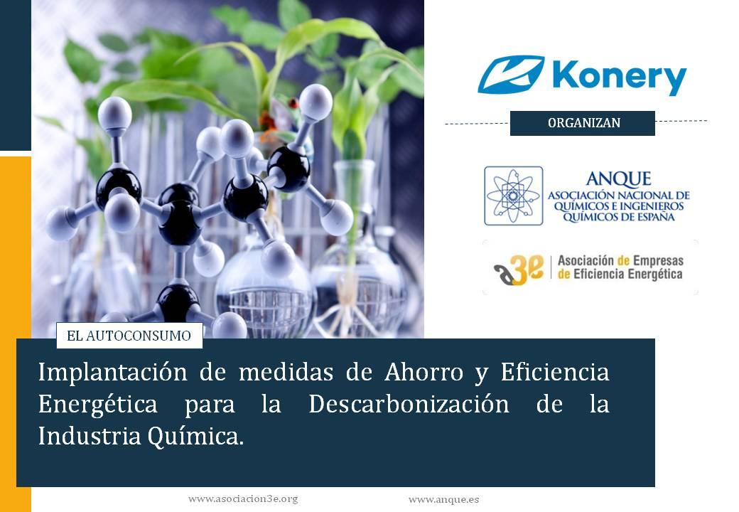 Autoconsumo Fotovoltaico. Webinar A3E - ANQUE: Implantación de medidas de eficiencia energética para descarbonizar la industria química