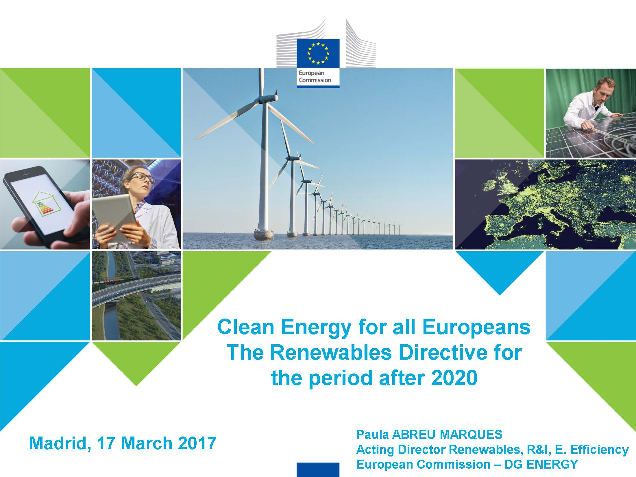 Clean Energy for all Europeans. The Renewables Directive for the period after 2020