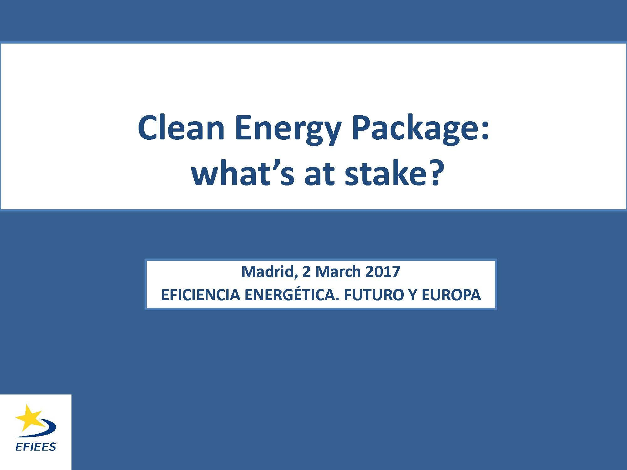 Clean Energy Package: What´s at stake?