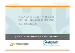 Compra y venta de energía por parte de un sujeto de mercado