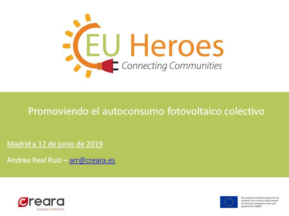 EU HEROES . Promoviendo el autoconsumo fotovoltaico colectivo