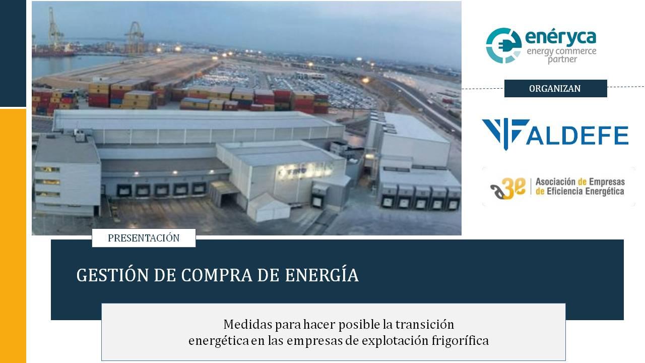 Gestión de Compra de Energía. Webinar A3E-ALDEFE