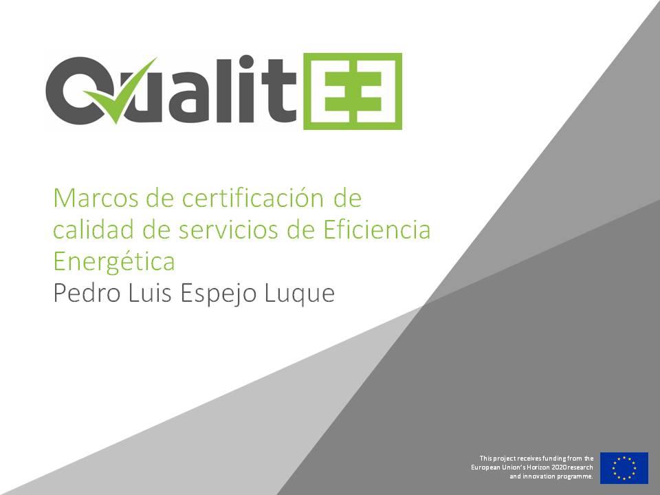 Los Servicios Energéticos en el Proyecto QUALITEE