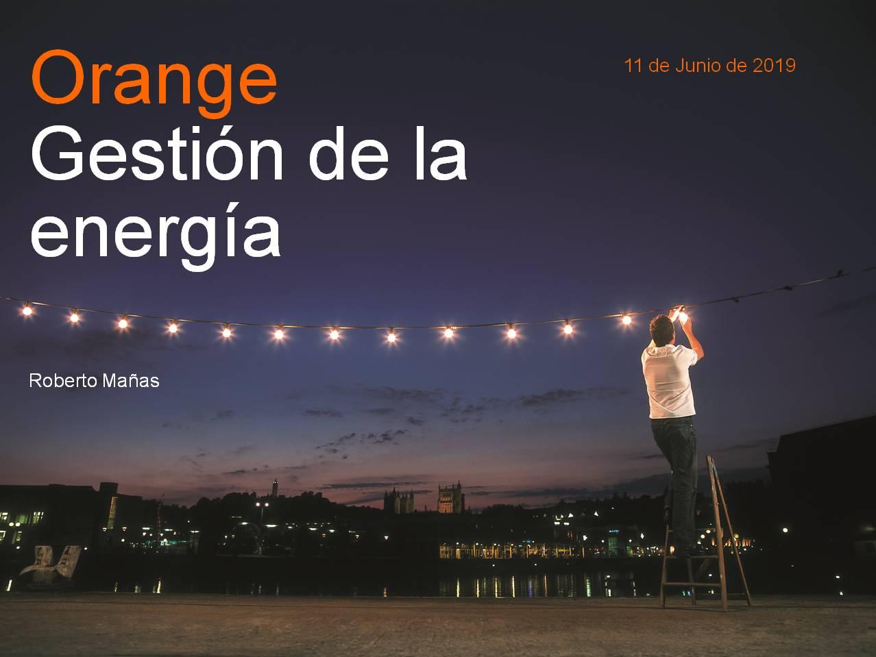 Orange gestión de la energía