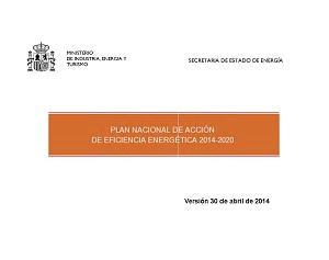 Plan Nacional de Acción de Eficiencia Energética 2014-2020