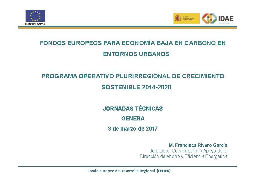 Programa Operativo Plurirregional de Crecimiento Sostenible 2014-2020