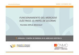 Funcionamiento del mercado eléctrico. El papel de la CNMC