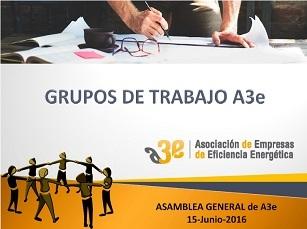 Grupo de Trabajo A3e: Contratación de Servicios de Eficiencia Energética