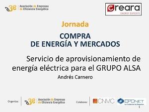 Servicio de aprovisionamiento de energía eléctrica para el GRUPO ALSA