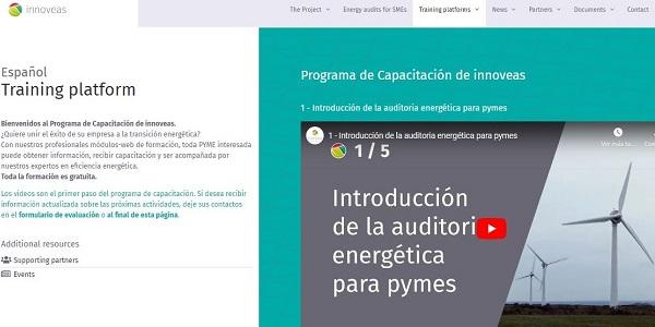 Plataforma de Capacitación del proyecto